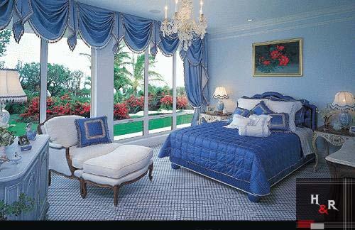 افضل غرف نوم 2014 باللون الازرق   مجتمع رجيم