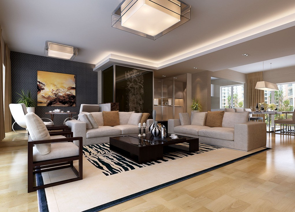 Modern Living Room And Dining Together House