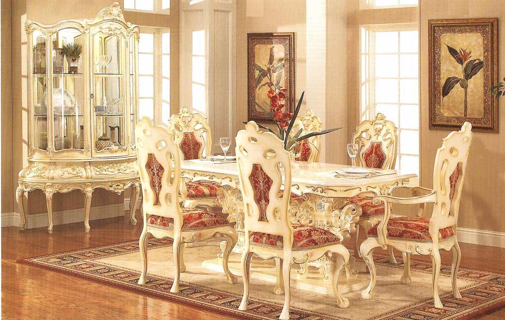ديكور غرف سفرة كلاسيك غاية بالتألق والجمال غرف سفرة رائعة