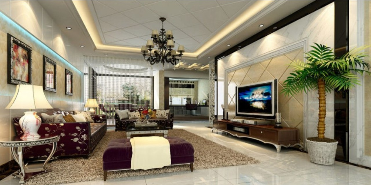 for Living room 3d view
