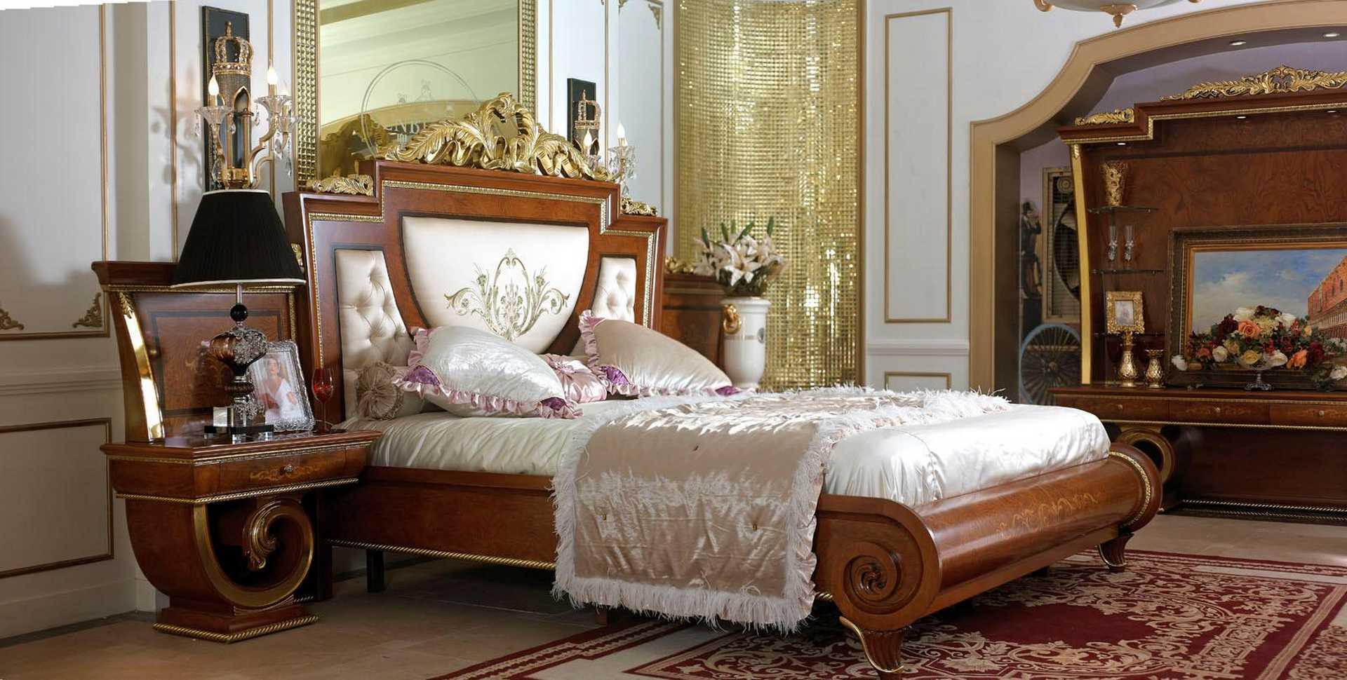 ديكورات غرف نوم فخمة غرف نوم روعه فخامة الكلاسيك بطابع
