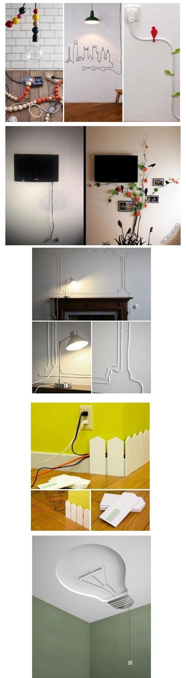 نخفي الأسلاك الكهربائية الظاهرة منازلنا